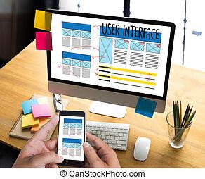 página principal, medios, software, innovación, interfaz, ...