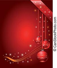 página, vetorial, presente natal