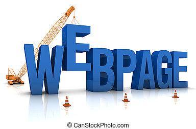 página web, bajo construcción
