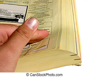 páginas, amarela