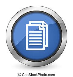 páginas, documento, icono, señal