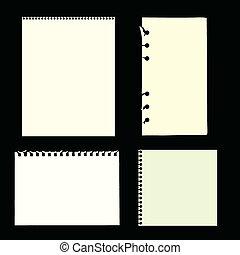 páginas, em branco