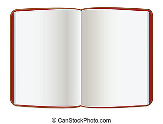 páginas, livro, couro, vazio, aberta