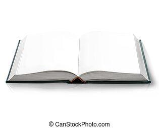 páginas, ojo, libro duro cubierta, vacío, blanco, ...