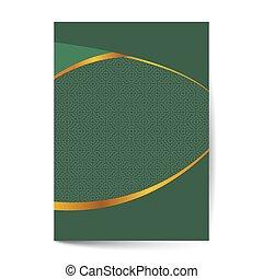 páginas, -, plantillas, diseño, ornamentos, vendimia, cubiertas, disposiciones, páginas, lujo, hermoso, decoraciones, creativo, libro