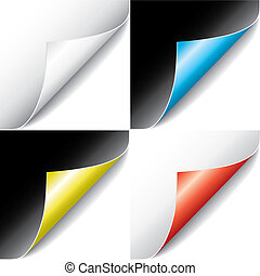 páginas, (vector), ondulado