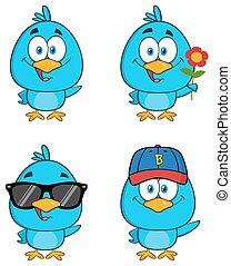 pájaro azul, carácter, 3., colección