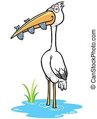 pájaro de la grúa