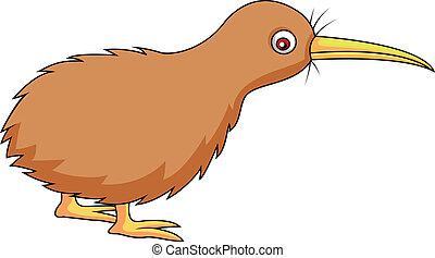 pájaro kiwi, caricatura