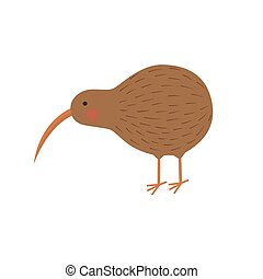 pájaro kiwi, ilustración, niños