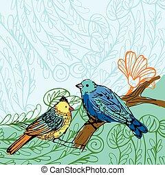 pájaro, plano de fondo