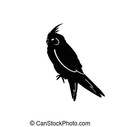 pájaro, siluetas