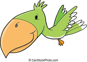 pájaro tropical, vector