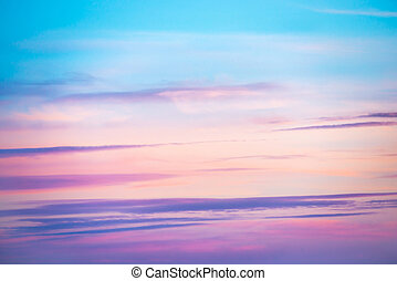 c10753f713221 Cor-de-rosa, natural, azul, céu, pôr do sol, colors., branca, ou ...