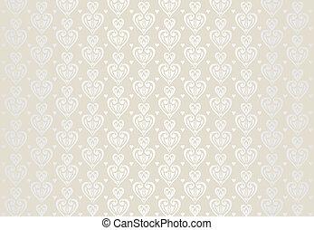 pálido, cartão, fundo, casório