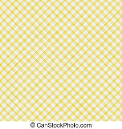 pálido, padrão, fundo, gingham, amarela, repetir