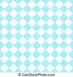 pálido, teal, e, branca, diagonal, verificadores, textured, tecido, fundo, que, é, seamless, e, repetições