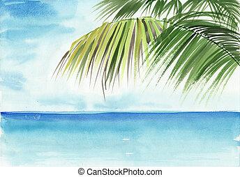 pálma tengerpart, erőforrás