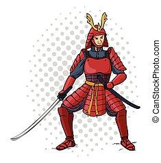 páncélozott, szamuráj