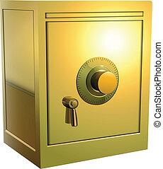páncélszekrény, arany, ikon