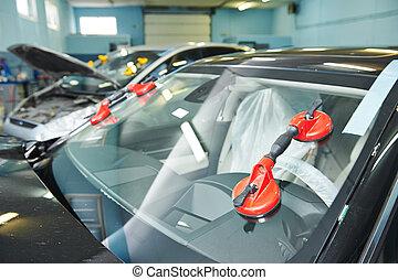 pára-brisa, windscreen, substituição