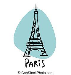 párizs, bástya, eiffel, főváros, franciaország