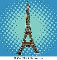 párizs, eiffel, tower., franciaország