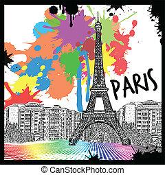 párizs, szüret, kilátás