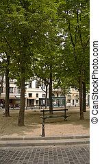 párizs, városi, liget