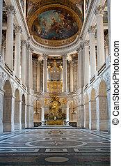 párizs, versaille, előszoba, palota