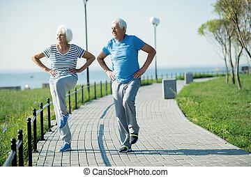 párosít, öregedő, aktivál