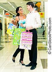 párosít, bevásárlás