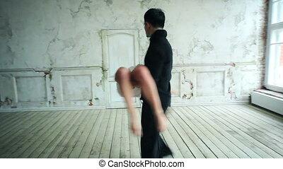 párosít, fiatal, tánc