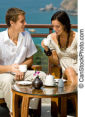 párosít, kávécserje, birtoklás