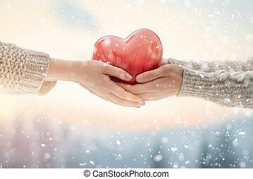 párosít, képben látható, valentines nap
