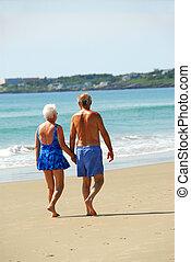 párosít, nyugdíjas, boldog
