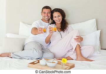 párosít, otthon, birtoklás, -eik, reggeli, ágy