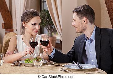 párosít, szőlőtőke, ivás