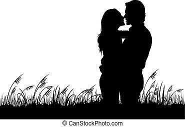 párosít, szerelemben