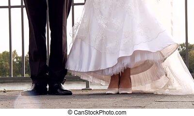 párosít, ugrál, esküvő