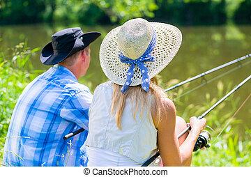 párosít, woman bábu, noha, halfajták horgászbot, sport, horgászás
