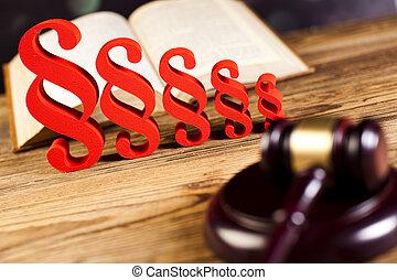 párrafo, de, juez, libro de derecho, justicia, concepto