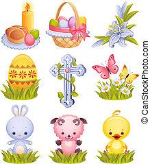 páscoa, ícones