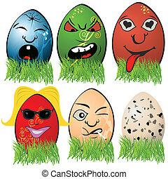 páscoa, 3, ovo, emoções