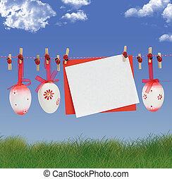páscoa, cartão