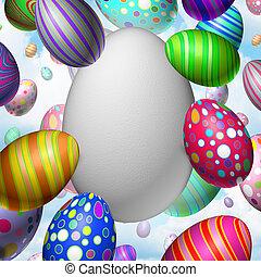 páscoa, celebração, em branco, ovo