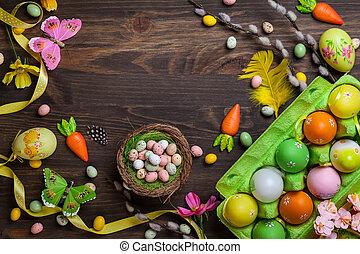 páscoa, decorações