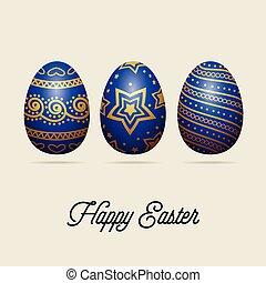 páscoa, eggs., feriado, saudação, card.