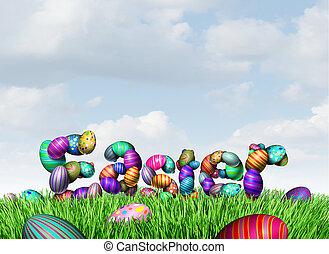 páscoa, feriado, saudação