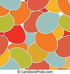 páscoa, seamless, feito, de, coloridos, eggs., eps, 8